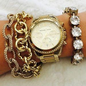 Michael Kors Blair Pavé Runway Gold Wrist Watch